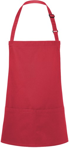 BLS 6 Short Bib Apron Basic with Buckle and Pocket 75 x 60 cm - Raspberry - Stck