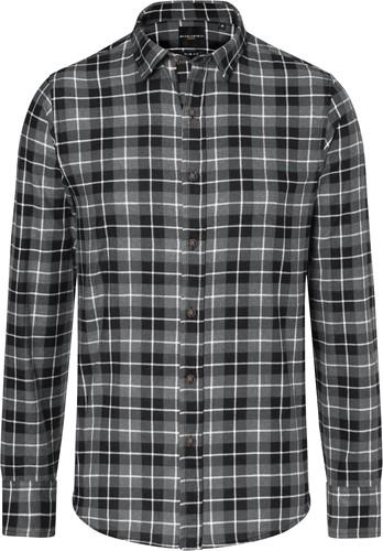BM 7 Men's Checked Shirt Urban-Flair - Black - 3xl