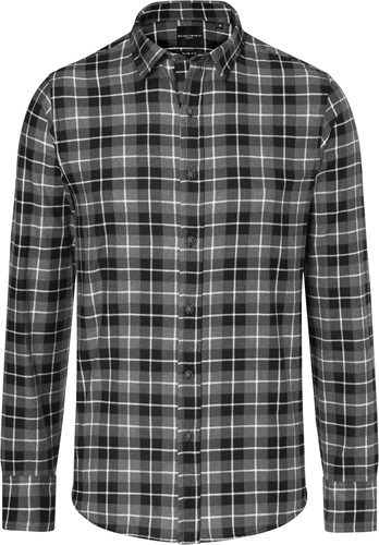 BM 7 Men's Checked Shirt Urban-Flair - Black - S