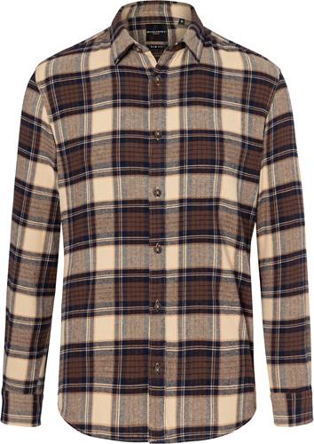 BM 9 Men's Checked Shirt Urban-Trend - Sahara - 3xl