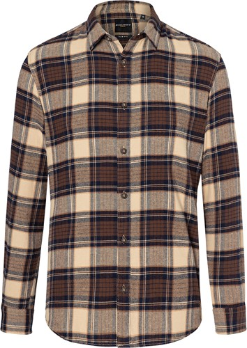 BM 9 Men's Checked Shirt Urban-Trend - Sahara - S