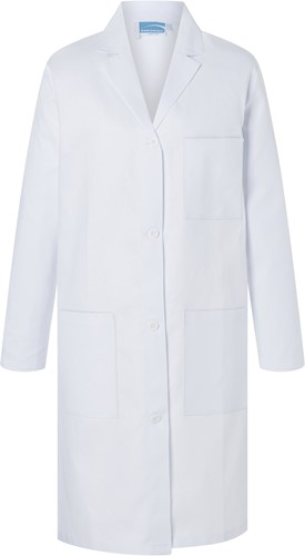 BMF 1 Ladies' Work Coat Basic - White - Xs