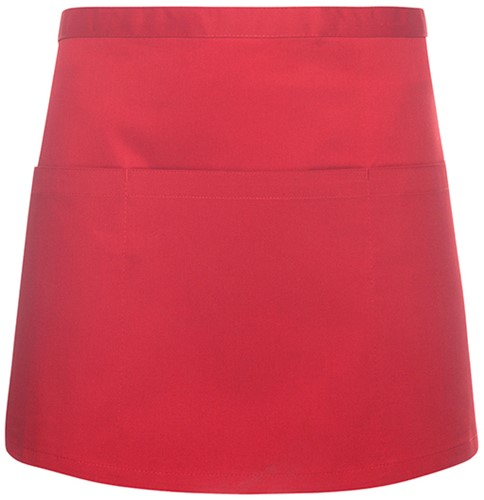 BVS 3 Waist Apron Basic with Pocket 60 x 35 cm - Red - Stck