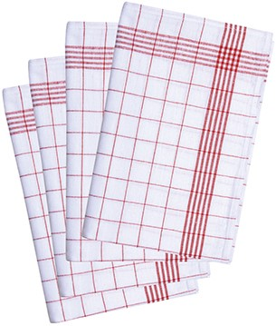 GT 14 Dishcloth 60 x 80 cm - Red - Pack