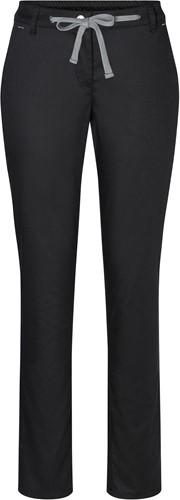 HF 8 Ladies' Chino Trouser Modern-Stretch - Black - 44