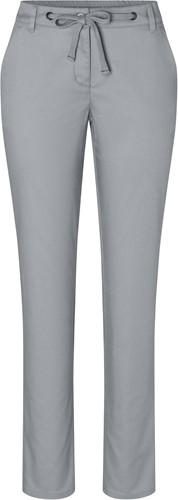 HF 8 Ladies' Chino Trouser Modern-Stretch - Steel grey - 42