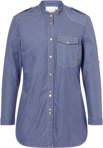 JF 18 Ladies' Chef Shirt Jeans-Style - Vintage blue - 48