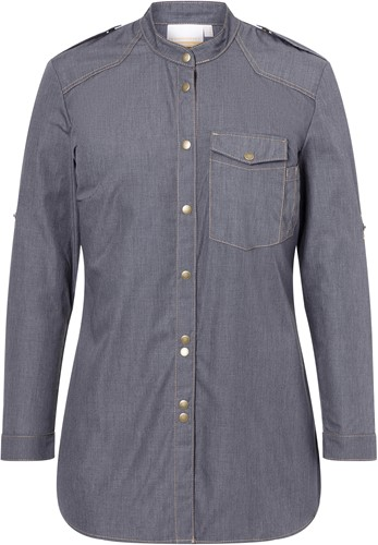 JF 18 Ladies' Chef Shirt Jeans-Style - Vintage black - 46