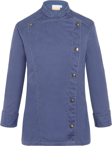 JF 20 Ladies' Chef Jacket Jeans-Style - Vintage blue - 40