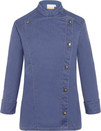 JF 20 Ladies' Chef Jacket Jeans-Style - Vintage blue - 42