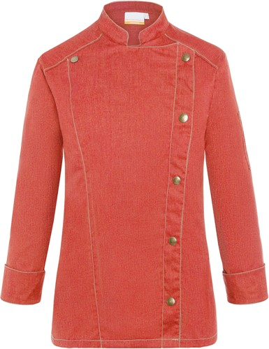 JF 20 Ladies' Chef Jacket Jeans-Style - Vintage red - 46
