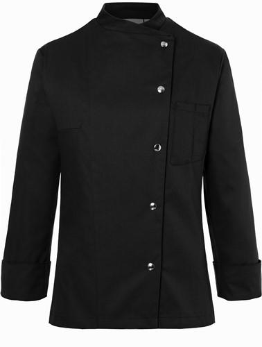 JF 3 Ladies' Chef Jacket Larissa - Black - 44
