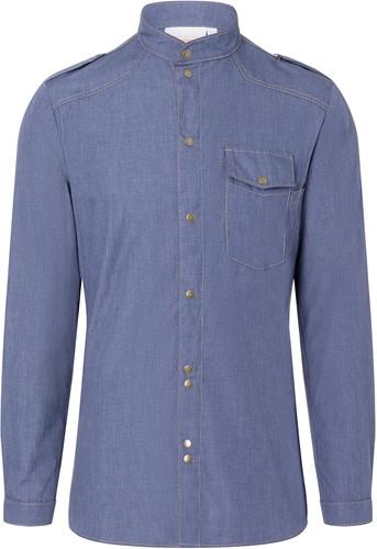 JM 28 Chef Shirt Jeans-Style - Vintage blue - 56