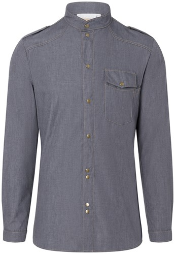 JM 28 Chef Shirt Jeans-Style - Vintage black - 48