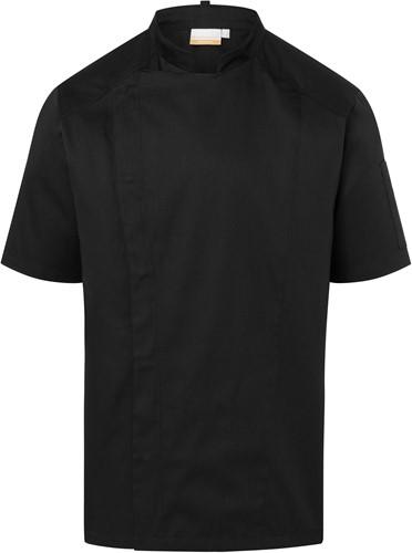 JM 29 Short-Sleeve Chef Jacket Modern-Look - Black - 46