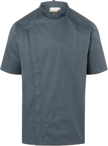 JM 29 Short-Sleeve Chef Jacket Modern-Look - Anthracite - 46