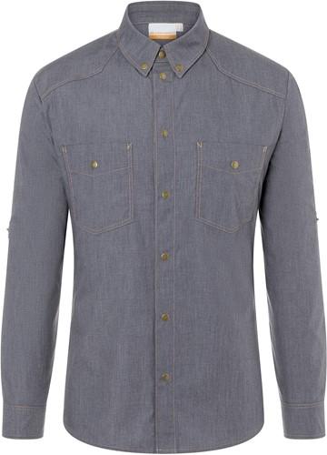 JM 30 Button-Down Chef Shirt Jeans-Style - Vintage black - 56