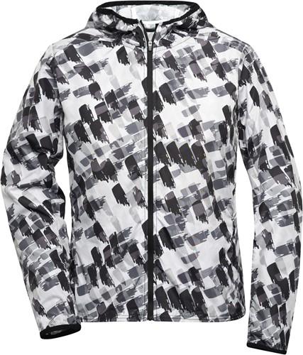 JN533 Ladies' Sports Jacket - Zwart-grijs-bedrukt - XS