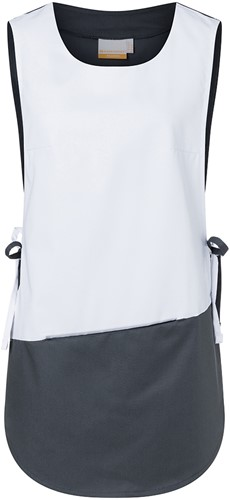 KS 17 Work Smock Bea Anthracite - White - I