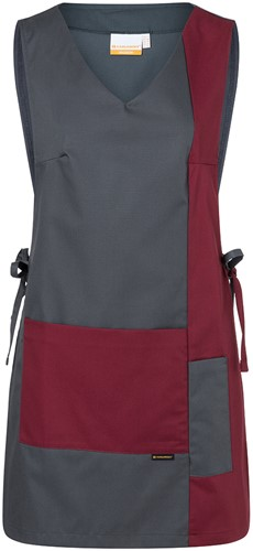 KS 38 Work Smock Marilies Anthracite - Bordeaux - Iv