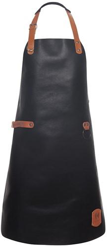 LS 23 Leather Bib Apron 60 x 82 cm - Black - Stck