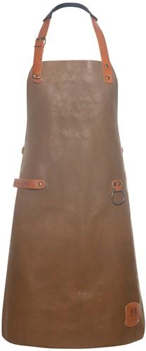 LS 23 Leather Bib Apron 60 x 82 cm - Toffee - Stck