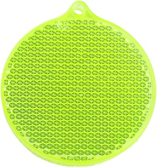 M117890 Reflector round shape - Lime yellow - one size