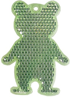 M117960 Reflector, bear - Lime green - one size