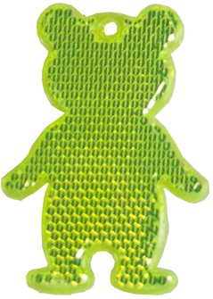 M117960 Reflector, bear - Lime yellow - one size