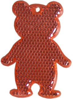 M117960 Reflector, bear - Red - one size