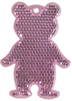 M117960 Reflector, bear - Rose - one size