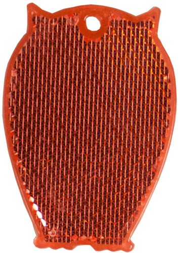 M118040 Reflector, owl - Red - one size