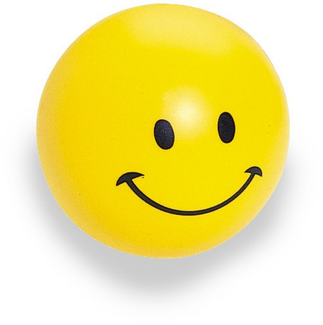 Ball with smiling face