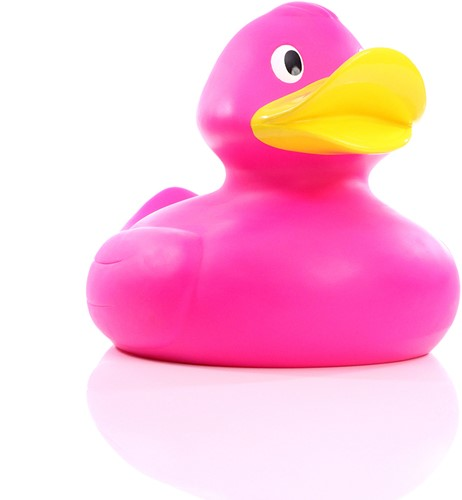 M131051 Squeaky duck giant - Pink - 30,0 cm