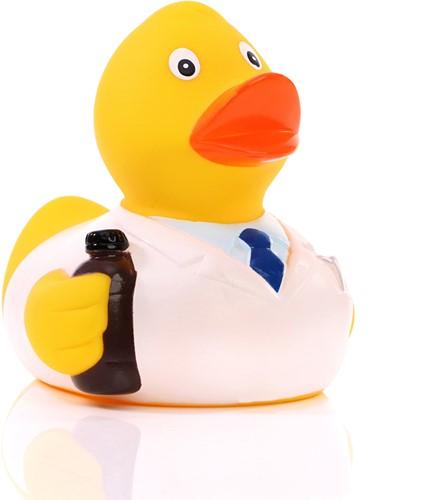 Squeaky duck pharmacist