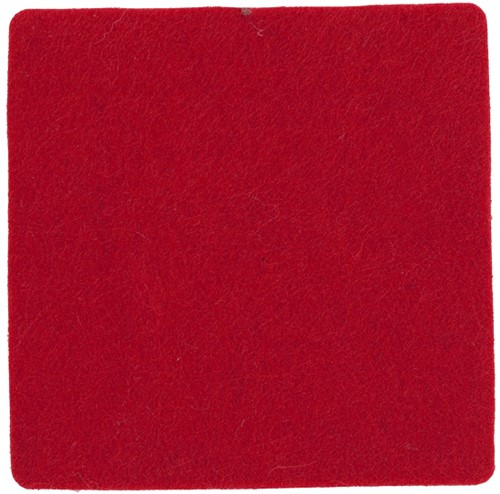 M140072 Coaster, square - Red - one size