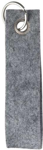 M144130 Polyester felt loop - Light grey mottled - L