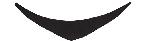 M160161 Bandana/ triangle scarf - Black - XS
