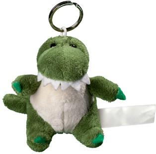 Plush crocodile with keychain