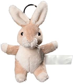 Plush rabbit with keychain