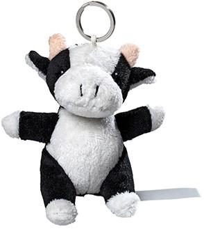 plush cow with keychain