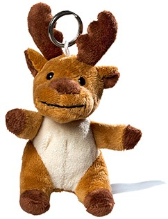 plush moose with keychain