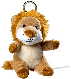 plush lion with keychain