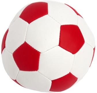 M160550 Vinyl soccer ball - White/red - Ø 9,0 cm