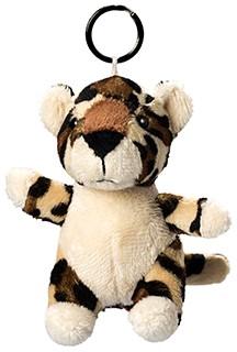 Plush leopard with keychain
