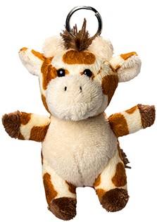 Plush giraffe with keychain