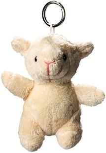 Plush sheep with keychain