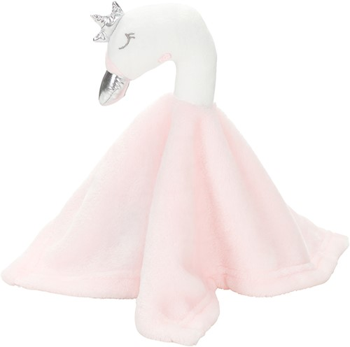 M160867 Cuddly blankets swan's head - Pastel rose - one size