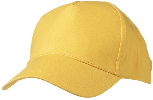 MB001 5 Panel Promo Cap Lightly Laminated - Goudgeel - One size