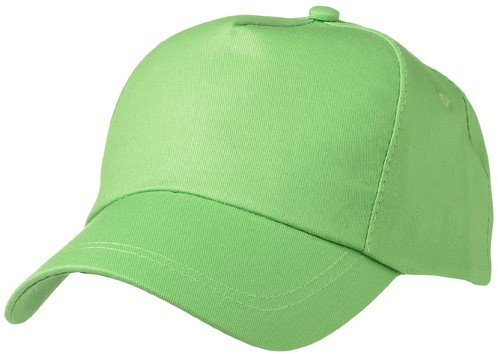 MB001 5 Panel Promo Cap Lightly Laminated - Lime - One size